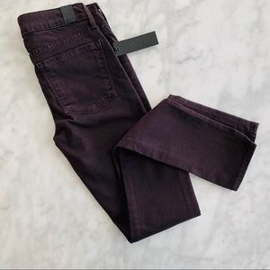 Vince Skinny Jeans Mulberry NWT Plum Purple 24 Dye